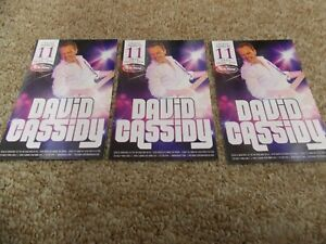 DAVID CASSIDY LOT OF 3 ORIG PROMO POSTCARDS FROM SHOW AT BB KING'S BLUES CLUB
