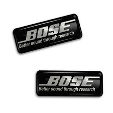 2 Domed Stickers 3D Decals Bose Speaker Bass & HiFi Audio Stereo Auto Car Tuning