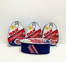 Cooked Ham Lot of 4 16oz Dak Premium Fully Cooked Canned Food Ready to Eat