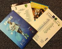 Tottenham v Norwich City Matchday Programme with copy teamsheet 22/1/20!!!