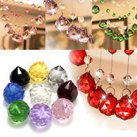 40mm Crystal Glass Chandelier Light Ball Prism Suncatcher Drop Pendant Lamp Deco