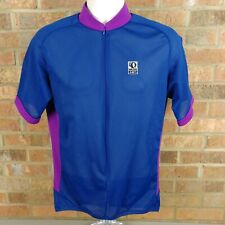 Mens PEARL IZUMI ALOFT 3/4 Zip Cycling Jersey Large Blue Purple