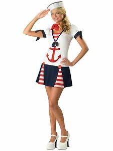 Sassy Sailor Costume Halloween Fancy Dress Outfit Teen Kids 16-17 Years