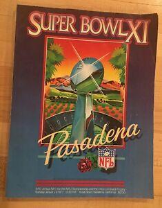 1977 Oakland Raiders vs Minnesota Vikings Super Bowl XI Football Program