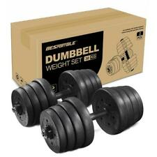 Adjustable Pair of 30kg Dumbbell Weight Fitness Dumbbell Set Home Workout Kit