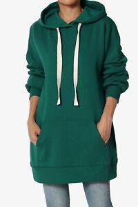 TheMogan S~3X Oversized Pullover Fleece Hooded Sweatshirt Oversized Tunic Hoodie