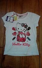 New Girls White Hello Kitty T-Shirt Age 8 Years