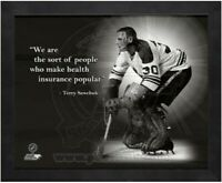 "Terry Sawchuk Detroit Red Wings NHL Pro Quotes Photo (Size: 12"" x 15"") Framed"