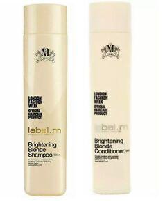 label.m Brightening Blonde Shampoo & Conditioner  10.1 oz. Set