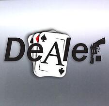 Dealer Cards Ace car Vinyl Sticker 210 x 100 mm Unit Gun weed funny bacon Drug
