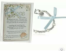 Child to Cherish Baby to Bride Sterling Silver Fresh Water Pearl Bracelet &Penny