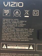 """VIZIO S3821W-co 38"""" Soundbar and Power Cable"""