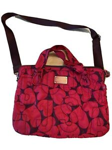 Marc Jacobs Workwear Laptop Bag Hearts Nylon Quilted Computer Messenger