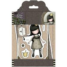 Gorjuss Girl SANTORO Cling Unmounted Rubber Stamp Found My Family GOR 907306 NEW