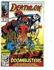 4 Marvel Comic Books Deathlok #5 Two-in-One #32 DP7 #2 NFL SuperPro #1 JB3