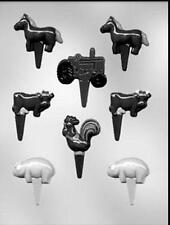 Farm Animal Tractor Assortment Chocopick Candy Mold #P9126  - NEW