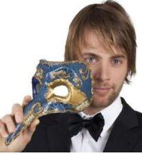 Loup Balanzone grand nez masque façon Venise bleu et or partition de musique