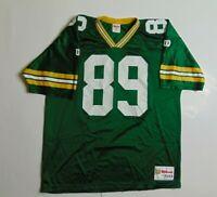 VTG 90s Wilson Mens XL Green Bay Packers Jersey Mark Chmura Football NFL USA