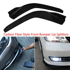 2 x Carbon Fiber Look Anti Scratch Car Front Bumper Lip Diffuser Splitter Canard