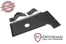 JCR Offroad Engine Skid Plate - Black PC - fits 2007-2018 Jeep Wrangler JK JKU