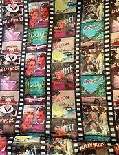 3 Métres Voilage Imprimé Cinema Holywood largeur 150cm tissu souple ,fluide
