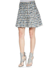 $395 NWT 10 Crosby Derek Lam Chevron-printed Pleated Skirt- Size 6
