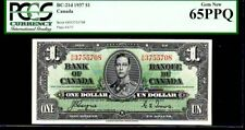 "CANADA BC-21d $1 1937 PCGS 65PPQ ""KING GEORGE VI"" Bank of Canada"