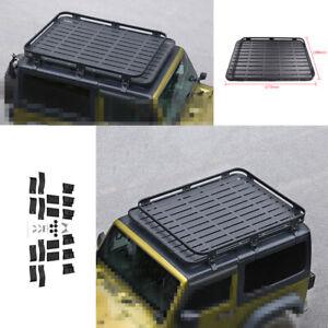 For Jeep Wrangler JK 2DR 2007 2008-2017 Black Top Roof Rack Luggage Carrier Rail