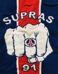 Echarpe 1991 Supras Scarf PSG Paris Saint Germain  Virage Auteuil 91 Ultras Foot