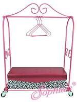 "Hotel Luggage Cart Truly Me for 18"" American Girl Doll Grand Rolling Rack"