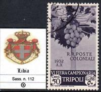Italy Libia - Tripoli Fair  6^ Sassone n.112 used