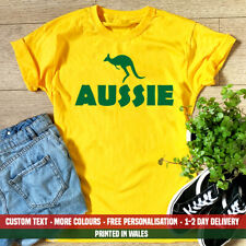 Ladies Aussie Kangaroo T Shirt Funny Australia Holiday Emigrate Day Gift Top