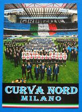 CARTOLINA ADESIVO - CENTO ANNI INTER - CURVA NORD MILANO - cm. 15X11