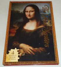 LOT OF 4 : 96 PIECE THE GREAT MASTERS JIGSAW PUZZLES ( BOOK STYLE )