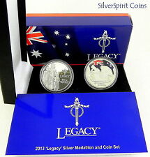 2013 LEGACY 90th Anniversary Silver Proof Coin & Medallion Set