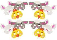 Kids Foam Easter Animal Masks (Bunny Rabbit, Chick &  Sheep ) Fancy Dress Party