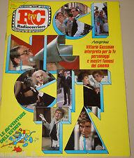 TV RADIOCORRIERE=1985/25=VITTORIO GASSMAN=STING=RON=CARLO ALDO GIUFFRE=