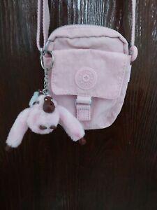 kipling crossbody bag pale pink brand new.