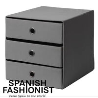 IKEA FLARRA BOX STORAGE Mini chest with 3 drawers, dark grey, 33x38 cm