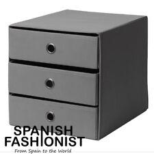 IKEA FLARRA BOX STORAGE Mini chest with 3 drawers, dark grey, 33x38 cm