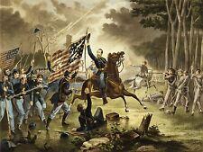 Peintures portrait général Kearney Union de la guerre civile bataille chantilly