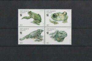 Haiti 1999 WWF Ground Iguana & Giant Tree-Frog Block set MNH per scan