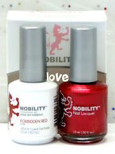 LECHAT NOBILITY LED/UV GelColor & Free Nail Polish Set NBCS013- Forbidden Red