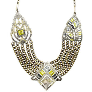 Chloe and Isabel Art Deco Chain Swag Statement Necklace - N118G - New - Retired