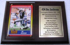 Los Angeles Raiders Bo Jackson Football Card Plaque