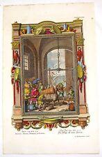 "Scheuchzer's ""Physica Sacra"" Hand-Col. Eng. - ""HONEST SCALES & BALANCES"" -1731"
