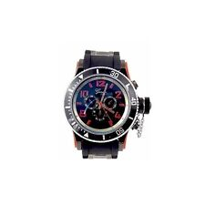 New Red Black Mens Geneva Watch Fashion Designer Oversized Gift