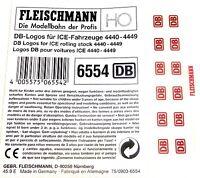 DB ICE Logos 6554 Fleischmann 4440 4441 4442 4443 4444 4445 4446 4447 4448 H0 µ*