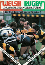 WELSH RUGBY MAGAZINE OCTOBER 1982, LONDON WELSH, NORTH WALES RU, BILLY HULLIN