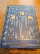 c1900 1st Ed Book OWENS HOBBY Arts & Crafts GLASGOW ROSE SCHOOL Fine Binding